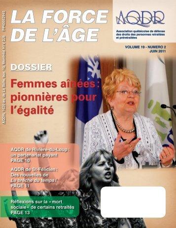 LA FORCE DE L'ÂGE - AQDR