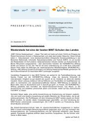 als PDF - NORDMETALL-Stiftung