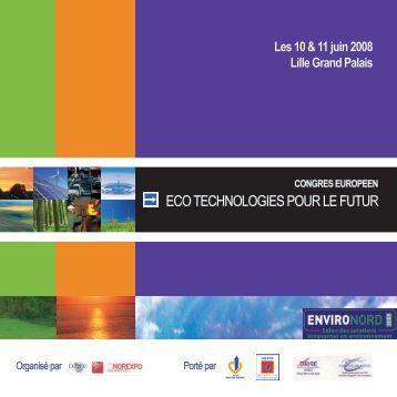ActesCongresEcotechnologiespourleFutur 2008Lille - Cd2e