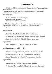 (PROTOKÓŁ 2010) - Ośrodek Kultury w Serocku - Serock