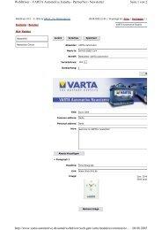 Seite 1 von 2 WebDriver - VARTA Automotive España - PartnerNet ...