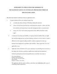 Suplement Msc. Counselling - Uwi.edu