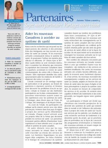 Le bulletin de la Fondation pour la recherche - The College of ...