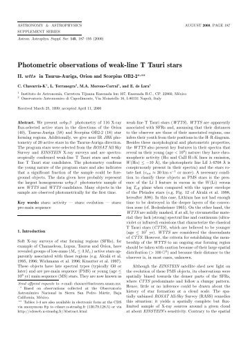 PDF (293.9 KB) - Astronomy and Astrophysics Supplement Series