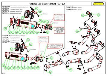 Honda CB 600 Hornet '07-12 - Arrow Special Parts