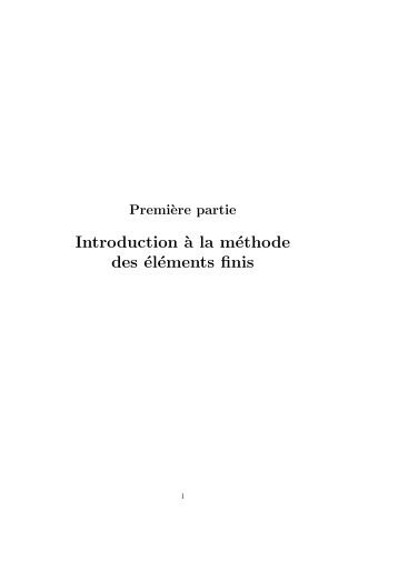 Introduction `a la méthode des éléments finis - lmpt