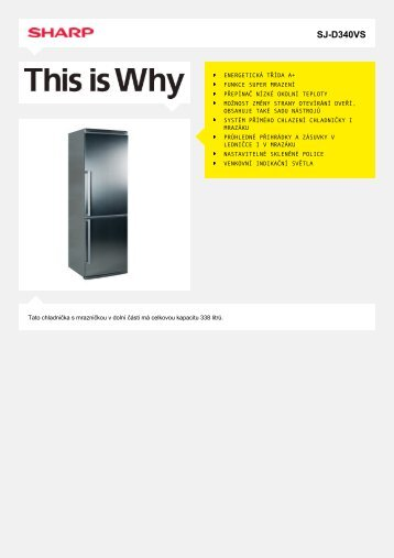 SJ-D340VS-Bottom Freezer - Sharp Electronics