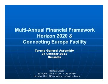 A budget for Europe 2020 - Terena