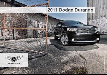 2011 Dodge Durango – Ausstattungslinie Citadel - Auto Magnus
