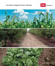 Drip Irrigation Owner's Manual - Toro