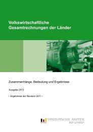 VGR der Länder: Zusammenhänge, Bedeutung und Ergebnisse ...