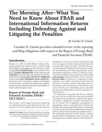 What You Need to Know About FBAR And International Information ...