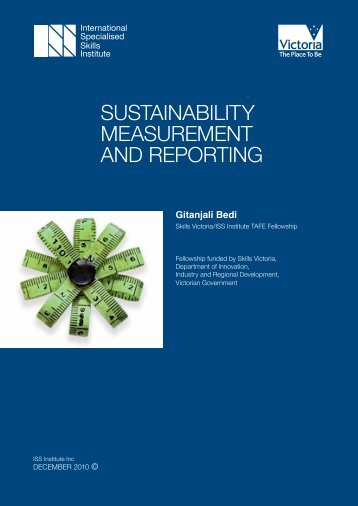 sustainability measurement and reporting - International Specialised ...