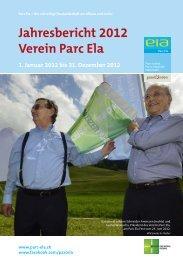 Jahresbericht 2012 Verein Parc Ela
