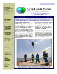 Air and Waste Matters - Delaware Department of Natural Resources ...