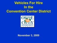 Regulation of Taxi Cabs - Orange County Comptroller