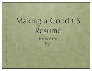 Making a Good CS Resume