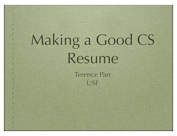cs resume