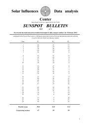 sunspot bulletin - Solar Influences Data Center