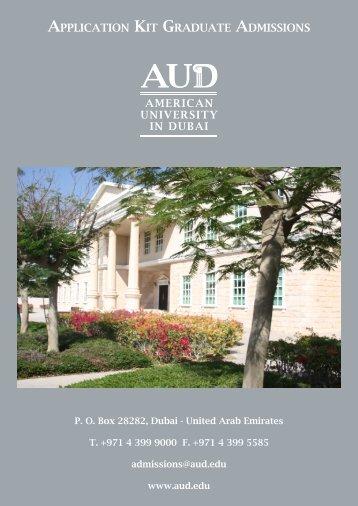 Application Form - American University in Dubai