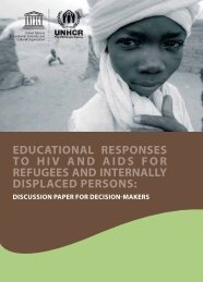 Educational responses to HIV and AIDS for ... - unesdoc - Unesco