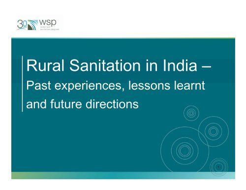 Rural Sanitation in India – - WSP