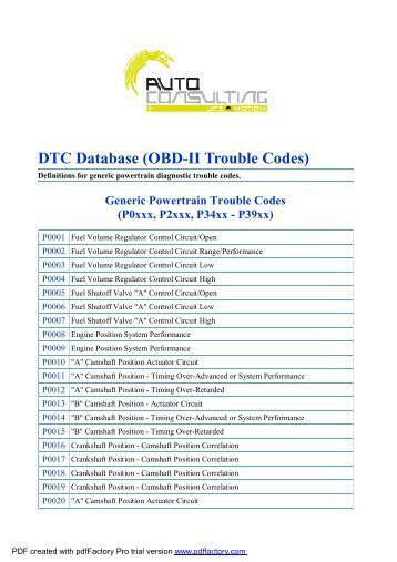 Obd Ii Trouble Codes Dtc Codes Car Repair   Autos Weblog