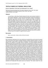 textile fabrics as thermal insulators - Autex Research Journal