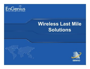 Wireless Last Mile Solutions