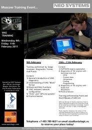 Neo Systems Training - February 2011 - Autologic-Diagnostics