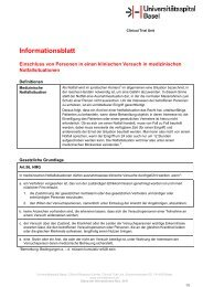Informationsblatt HMG Artikel 56 - Universitätsspital Basel