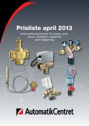 Prislistekatalog April 2013 - Automatikcentret Aps