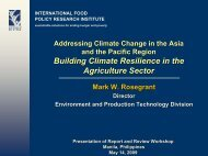 Building Climate Resilience in the Agriculture Sector
