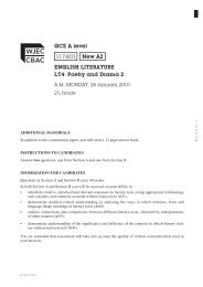 GCE A level 1174/01 New A2 ENGLISH LITERATURE LT4: Poetry ...