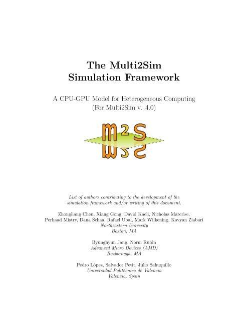 The Multi2Sim Simulation Framework