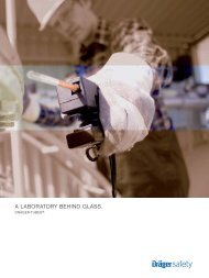 Brochure: A laboratory behind glass (PDF) - Dräger