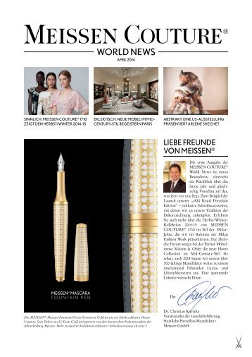 MEISSEN COUTURE WORLD NEWS 01-14
