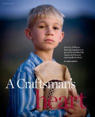 A Craftsman's Heart - Professional Photographer Magazine