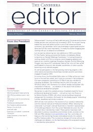 The Canberra editor February-March 2014