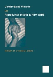 Gender-Based Violence and Reproductive Health & HIV/AIDS: A ...