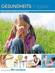 GESUNDHEITSmagazin Frühling 2014