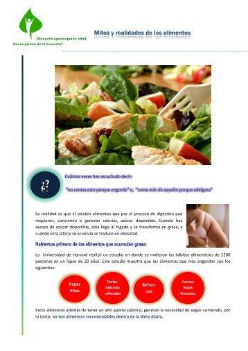 Mitos y realidades de los alimentos - Sntimp.org.mx