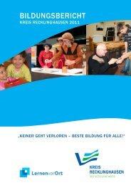 Bildungsbericht Kreis Recklinghausen 2011 - Regionale ...