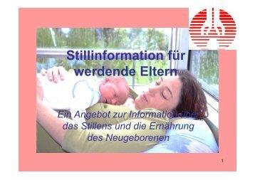 Stillinformation für werdende Eltern - St. Anna Klinik