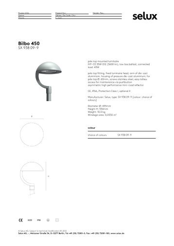 Bilbo 450 - Selux