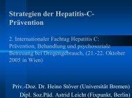 Strategien der Hepatitis-C- Prävention