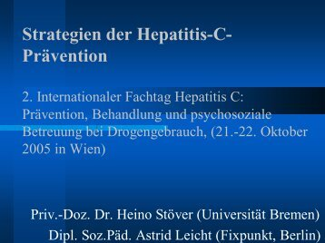 Strategien der Hepatitis-C- Prävention