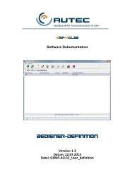 Bedienerdefinition - AUTEC Gesellschaft für Automationstechnik mbH