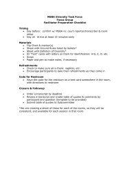 Focus Group Discussion Guide - Minnesota State Bar Association