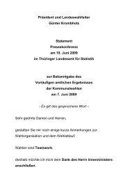 Statement Pressekonferenz am 10. Juni 2009 im Thüringer ...
